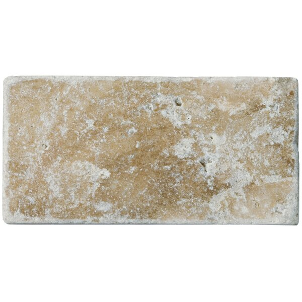 Travertine 3 x 6 Subway Tile in Unfilled Tumbled Fontane Walnut by Emser Tile