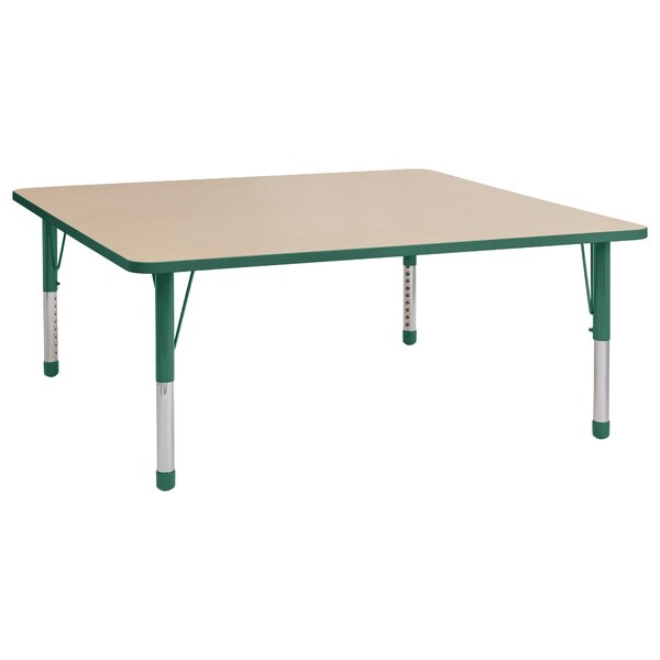 Maple Top Thermo-Fused Adjustable 60 Square Activity Table by ECR4kids