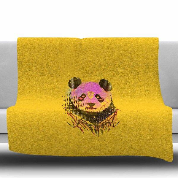Dandy Panda by BarmalisiRTB Fleece Blanket by East Urban Home