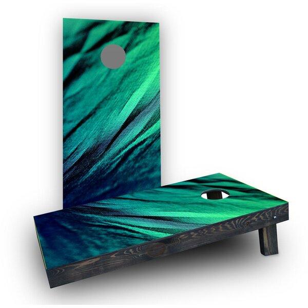 Shades of Green Fabric Cornhole Boards (Set of 2) by Custom Cornhole Boards