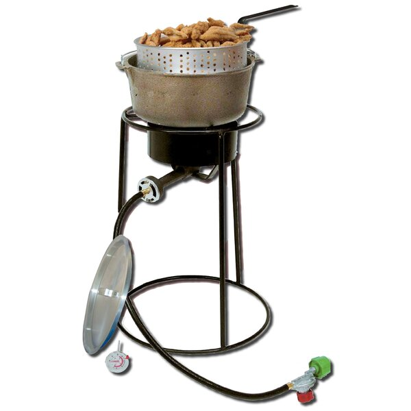 Outdoor Cooker Package with Cast Iron Pot by King Kooker