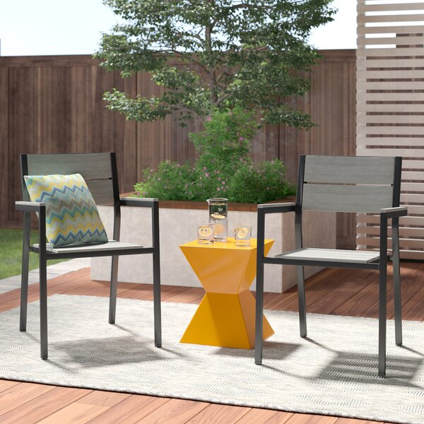 Briarcliff Stacking Patio Dining Chair (Set of 2) by Sol 72 Outdoor Sol 72 Outdoor