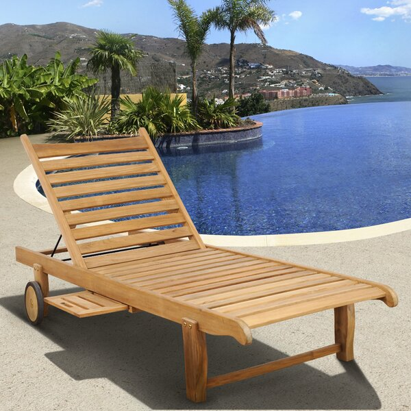 Brighton Reclining Teak Chaise Lounge by Sol 72 Outdoor Sol 72 Outdoor