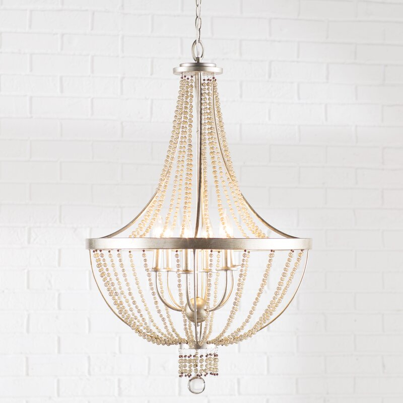 Mistana erik 6 light empire chandelier reviews wayfair erik 6 light empire chandelier aloadofball