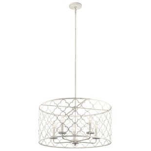 Diller 5-Light Drum Chandelier by Bungalow Rose