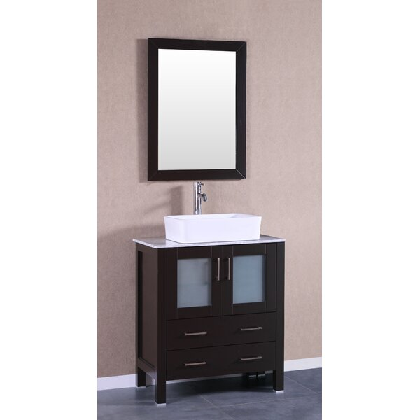 Alva 30 Single Bathroom Vanity Set with Mirror by Bosconi