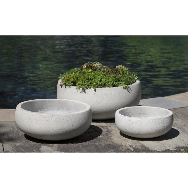 Tiggs Bowl 3-Piece Fiber Cement Pot Planter by Brayden Studio