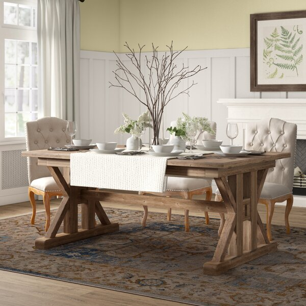 Grenadier Extendable Solid Wood Dining Table by Birch Lane Heritage Birch Lane™ Heritage
