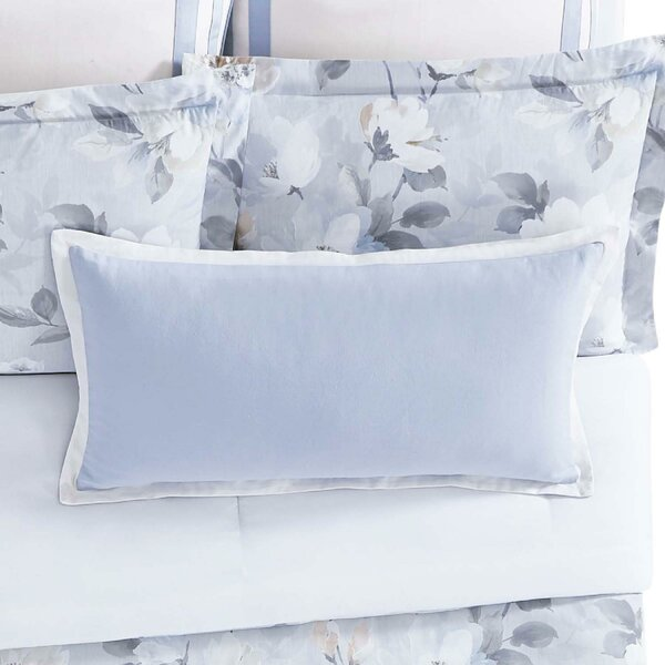Soft Floral Cotton Lumbar Pillow by Christian Siriano