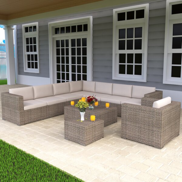 Alitza 7 Piece Sectional Seating Group with Cushions by Latitude Run