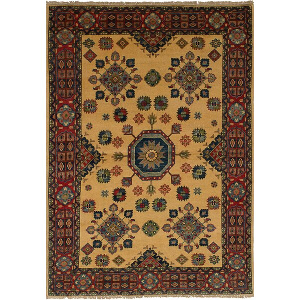 One-of-a-Kind Bernard Traditional Hand-Knotted Wool Cream Area Rug by Bloomsbury Market