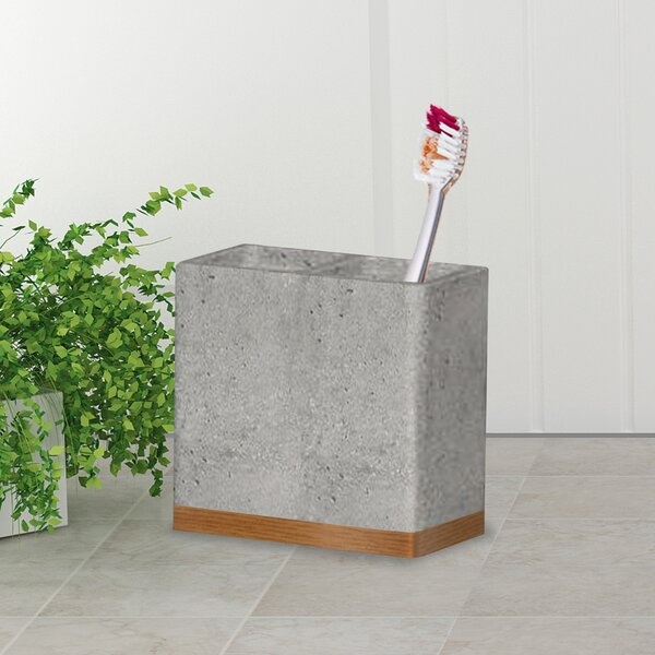 Stonington Stone/Wooden Toothbrush Holder by Greyleigh