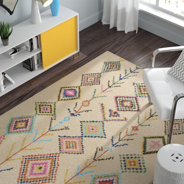 Kleio Hand-Tufted Ivory Area Rug by Zipcode Design