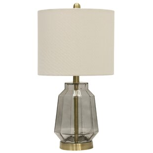Affordable Robinett Tinted Glass 22.75 Table Lamp By Mercer41
