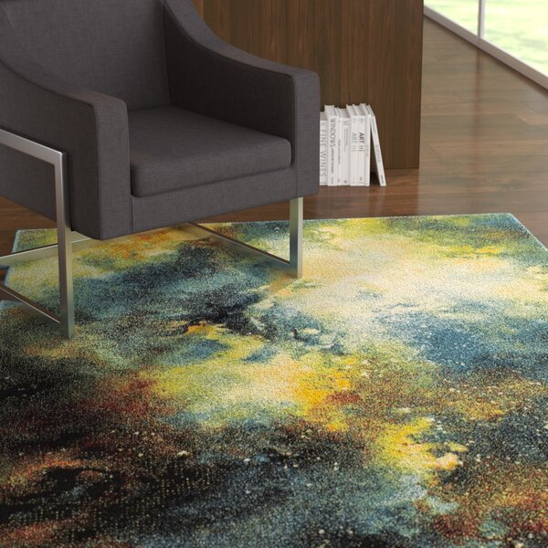 Blue/Yellow Area Rug by East Urban Home