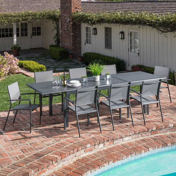 Ilya 9 Piece Patio Dining Set by Latitude Run