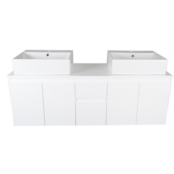 Hazel 59.3 Wall Mounted Double Bathroom Vanity Set by Orren Ellis