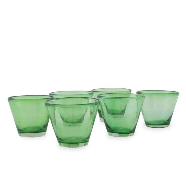 Dorgan Handblown Recycled Juice Glass (Set of 6) by Mercury Row