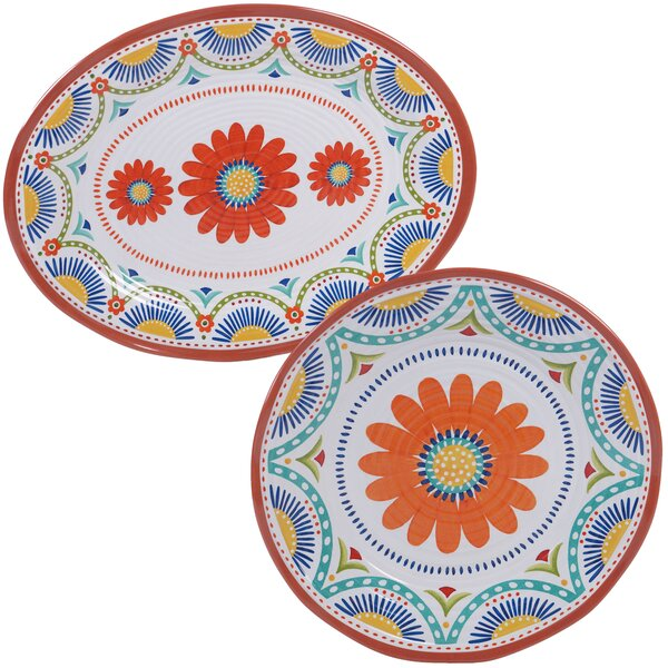 Fullilove 2 Piece Melamine Platter Set by August Grove