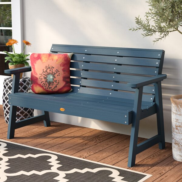 Trigg Synthetic Plastic Garden Bench by Darby Home Co