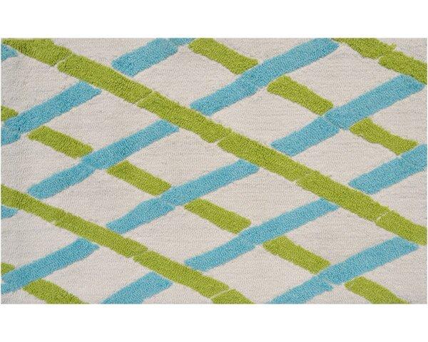 Salem Hand-Woven Aqua/Green Area Rug by Threadbind