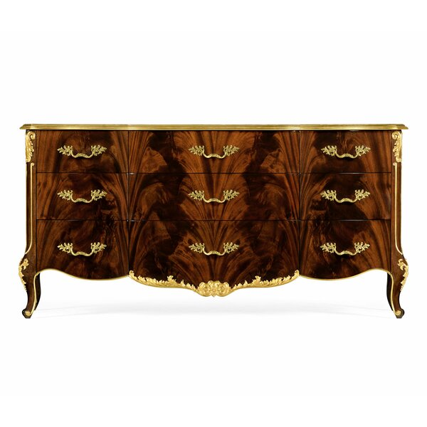 Monte Carlo Triple Dresser 9 Drawer Accent Chest by Jonathan Charles Fine Furniture