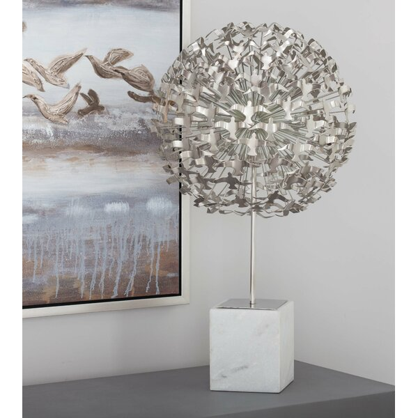 Metal Marble Seagull Ball Sculpture by Cole & Grey