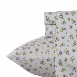 Reviews Petite Fleur 300 Thread Count 100% Cotton Sheet Set ByLaura Ashley