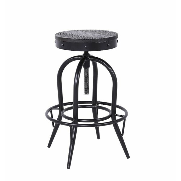 Abe Swivel Solid Wood Adjustable Height Bar Stool By 17 Stories