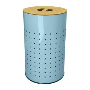 Inexpensive Coastal Ventilated Stainless Steel Laundry Hamper and Clothes Basket By Brayden Studio