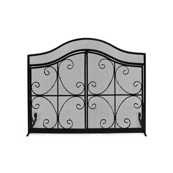 Salvatore 3 Panel Iron Fireplace Screen By Home Loft Concepts