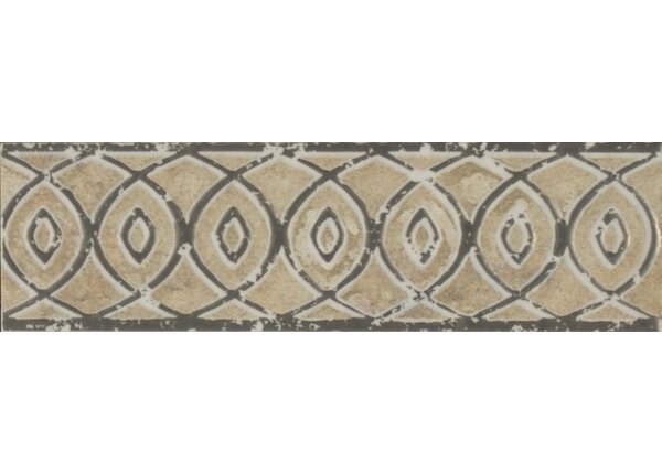 Forge Listello Baroque 1.9 x 6.5 Porcelain Mosaic Tile in Beige by Bedrosians