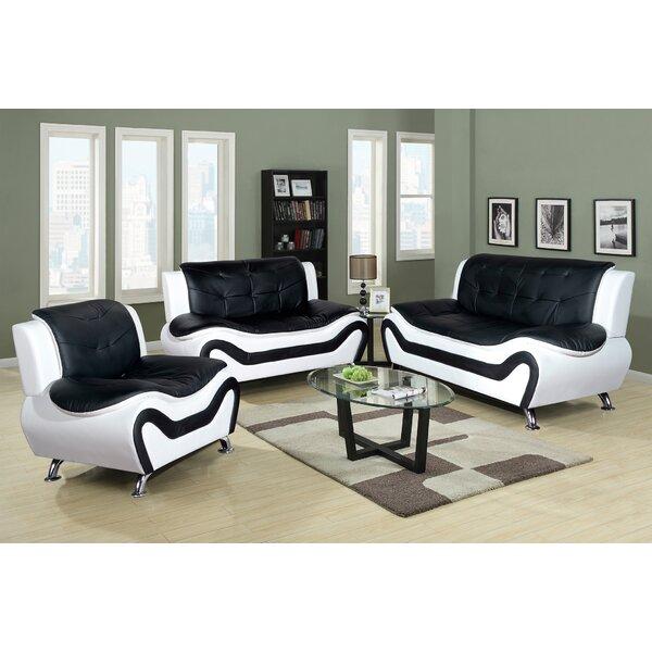 Chicoine 3 Piece Living Room Set by Orren Ellis