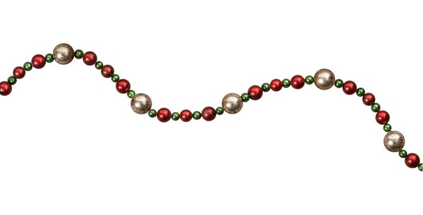 Red & Green Bead Garland by Zing Anything