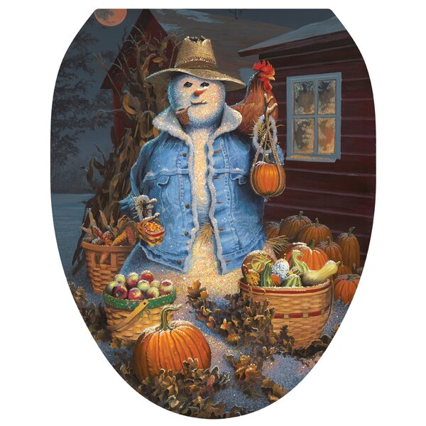 Autumn Gathering Toilet Seat Decal by Toilet Tattoos