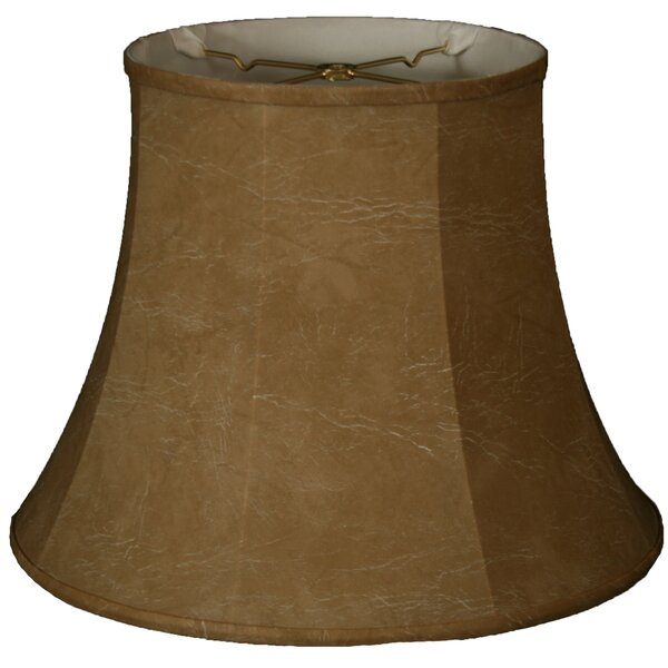 Timeless 15 Faux Leather Bell Lamp Shade by Royal Designs