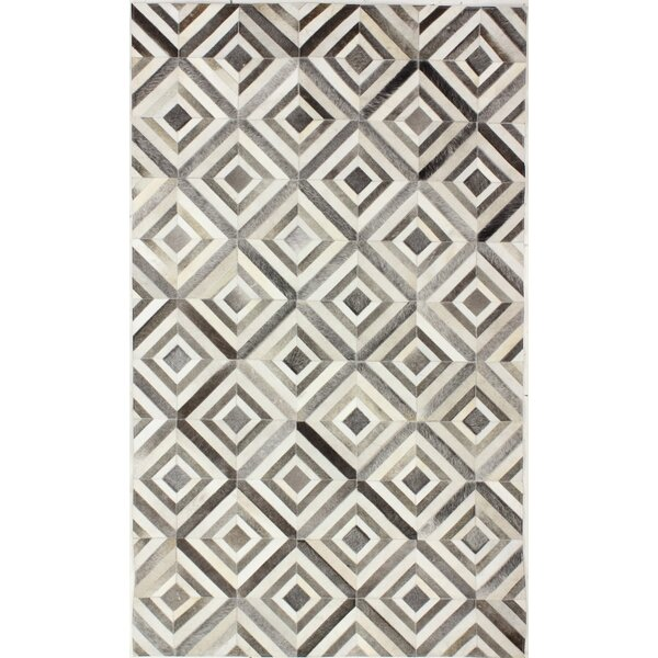 Cascadera Flat Woven Grey Area Rug by Wade Logan