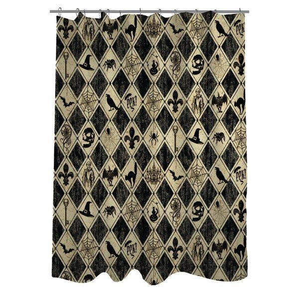 Spooky Diamonds Shower Curtain by One Bella Casa