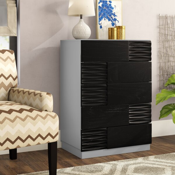 Bernice 5 Drawer Chest by Wrought Studio