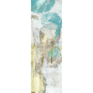 'Citron and Teal Orbs II' Painting Print on Canvas by East Urban Home