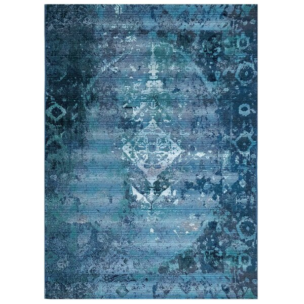 Brilliant Kermin Blue Indoor/Outdoor Area Rug by Bungalow Rose