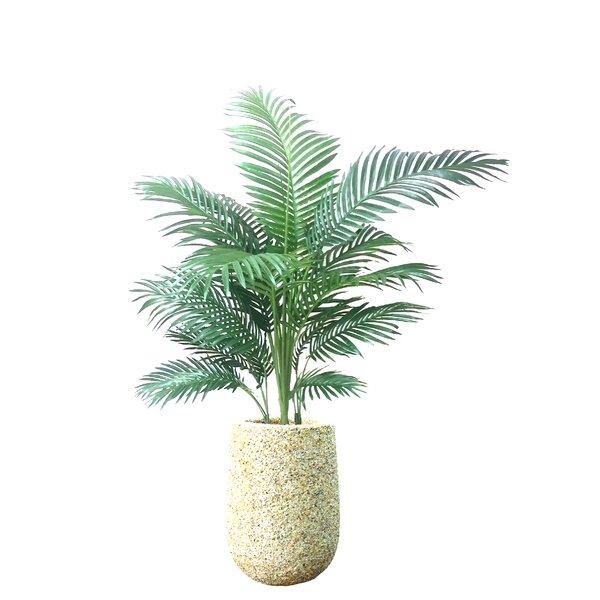 Lush Palm Tree in Planter by Dalmarko Designs