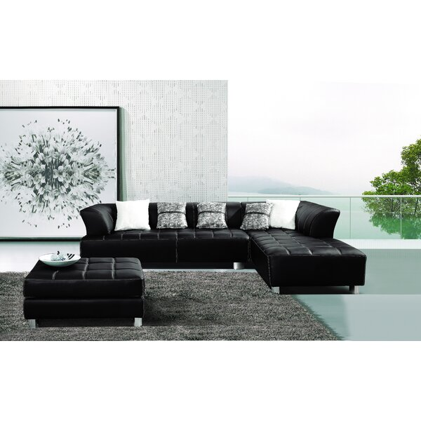 Klyne Sectional with Ottoman by Hokku Designs