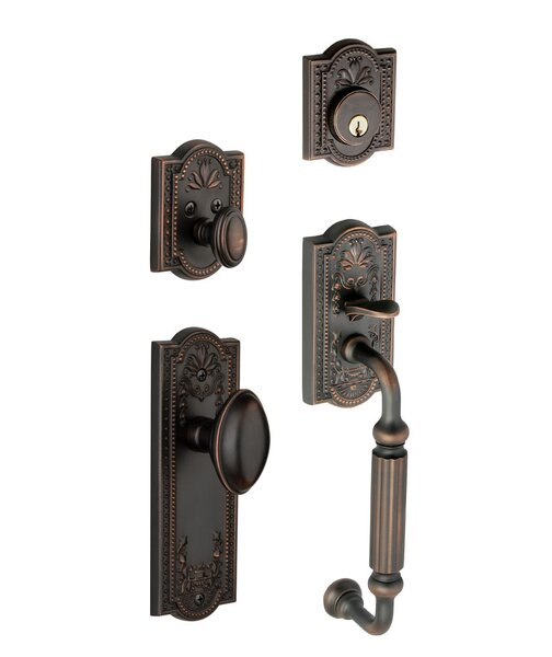 Parthenon Keyed Door Knob by Grandeur