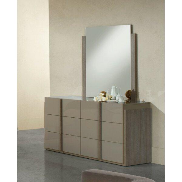 Dibiase 6 Drawer Double Dresser with Mirror by Orren Ellis