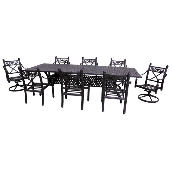 Baldwin 9 Piece Dining Set by California Outdoor Designs