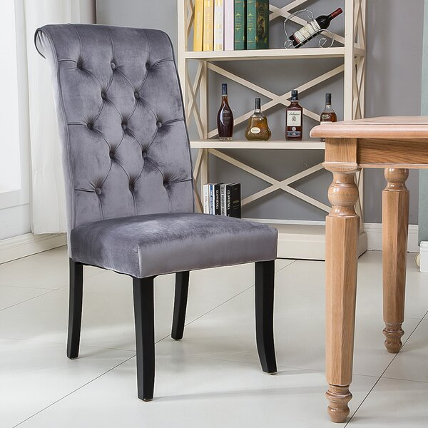 Gartner Tufted Velvet Upholstered Dining Chair (Set of 2) by Alcott Hill Alcott Hill
