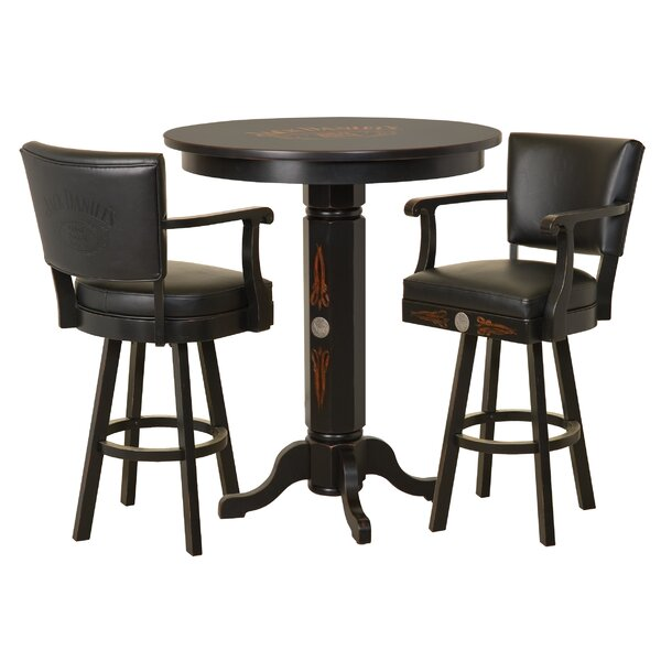 Wood 3 Piece Pub Table Set by Jack Daniel's Lifestyle Products