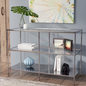 Latitude Run Busey Glam Mirrored Console Table