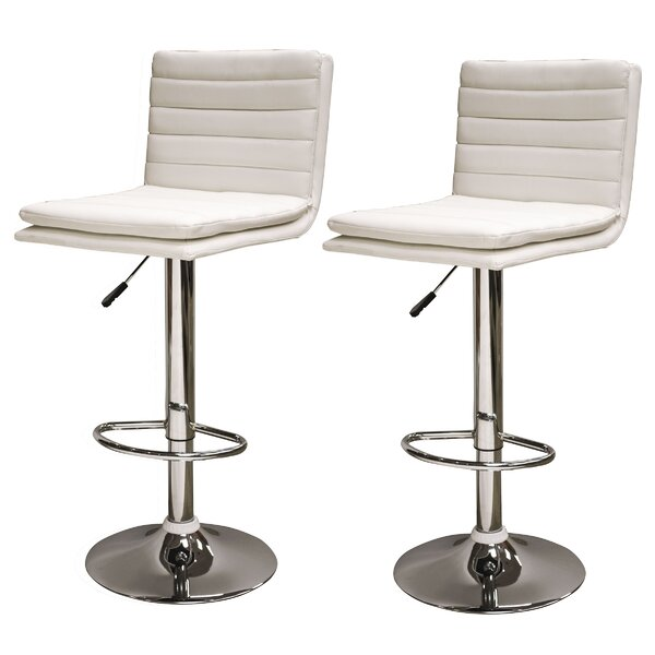 Adjustable Height Swivel Bar Stool (Set of 2) by AmeriHome